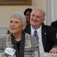 Rachelle Heller and President Knapp