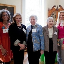 Gloria Berberich and attendees