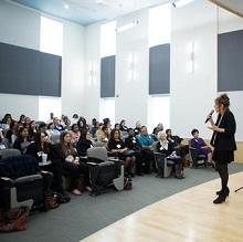 Attendees of the 2014 WLC listen to choreographer Liz Lerman speak